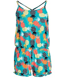 Epic Threads Little Girls Pineapple-Print Romper, Created for Macy's