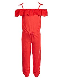 Epic Threads Toddler Girls Off-the-Shoulder Jumpsuit, Created for Macy's