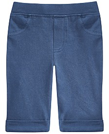 Epic Threads Toddler Girls Denim Bermuda Shorts, Created for Macy's