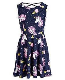 Toddler Girls Unicorn-Print Dress, Created for Macy's
