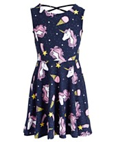 fd391e06ad5c Epic Threads Little Girls Unicorn-Print Dress, Created for Macy's