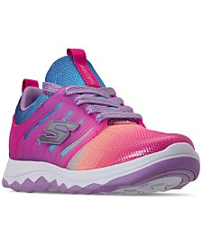 Skechers Little Girls' Diamond Runner - Rainbow Dreams Athletic Training Sneakers from Finish Line