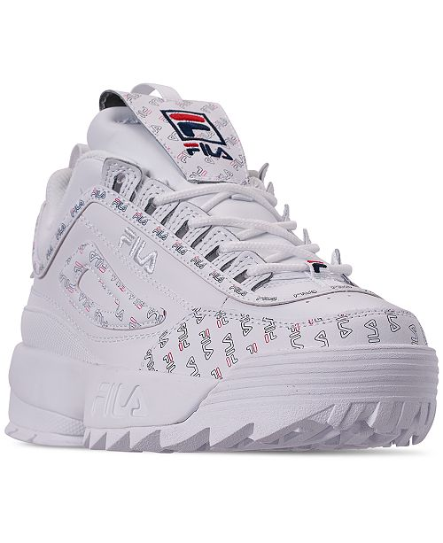 Fila Women's Disruptor II Multiflag Casual Athletic Sneakers