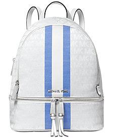 MICHAEL Michael Kors Signature Stripe Rhea Backpack