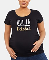 f7d33998f Motherhood Maternity Plus Due In October™ Maternity Graphic Tee, Plus Size  Short Sleeve