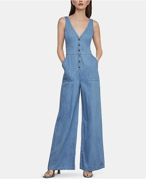 BCBGMAXAZRIA Denim Jumpsuit