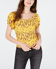 Juniors' Smocked Prairie Top