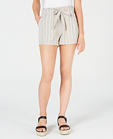 Juniors' Cotton Paperbag Soft Shorts