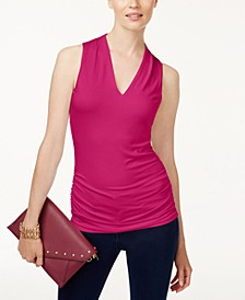 INC Ruched V-Neck Top, Created for Macy's