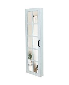White Window Jewelry Armoire