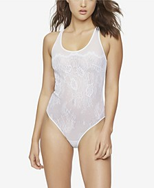 Penelope Lace & Mesh Bodysuit, Online Only