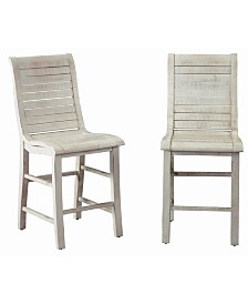 Willow Wood Counter Chair - Set of 2