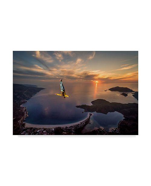 "Trademark Global Tristan Shu 'Freefalling With Guillaume Galvani' Canvas Art - 24"" x 16"" x 2"""