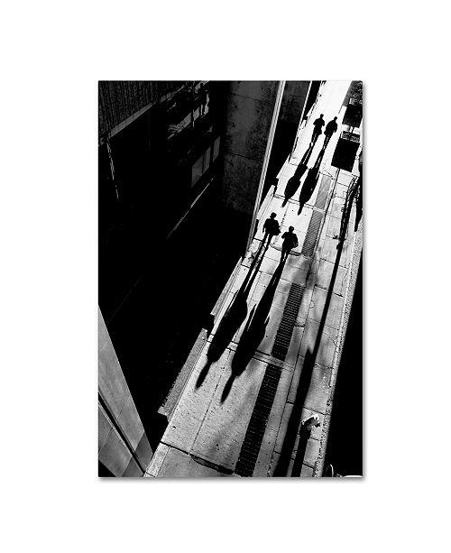 """Trademark Global Jian Wang 'Queen Street' Canvas Art - 24"""" x 16"""" x 2"""""""