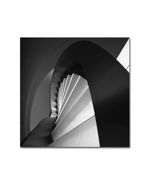"""Trademark Innovations Olavo Azevedo 'Straight And Curves Lines' Canvas Art - 18"""" x 18"""" x 2"""""""