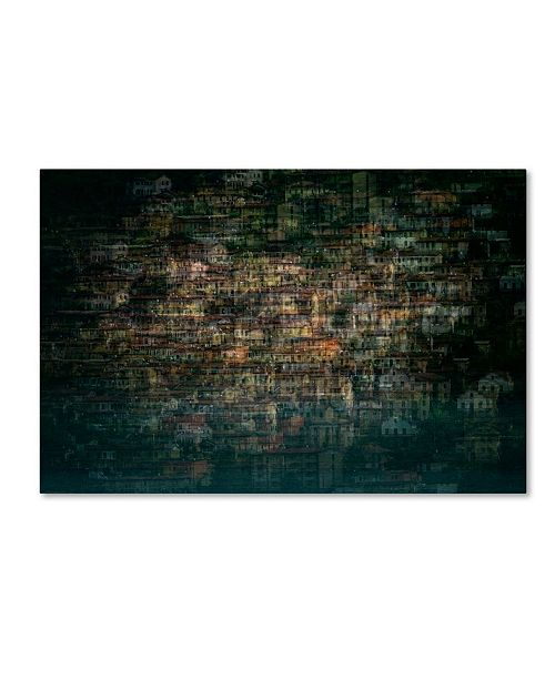 "Trademark Global Roberto Marini 'Multi House' Canvas Art - 19"" x 12"" x 2"""