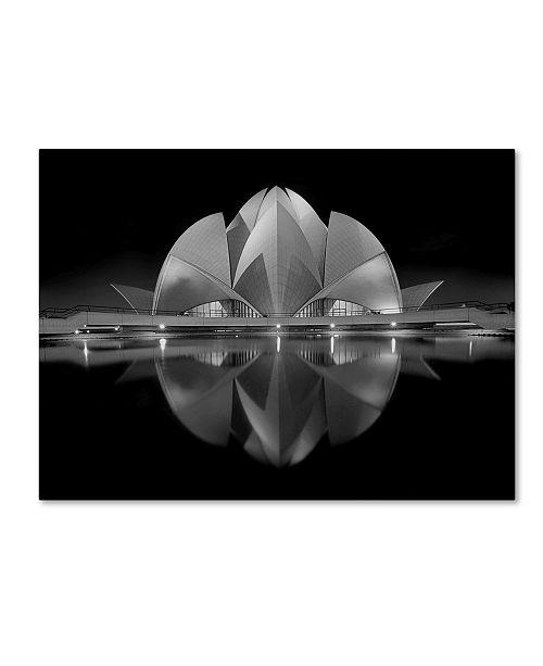 "Trademark Innovations Nimit Nigam 'Black Contrast' Canvas Art - 19"" x 14"" x 2"""