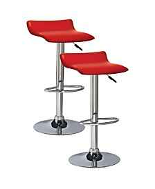 Leick Home Favorite Finds Red Adjustable Swivel Barstool-Set of 2