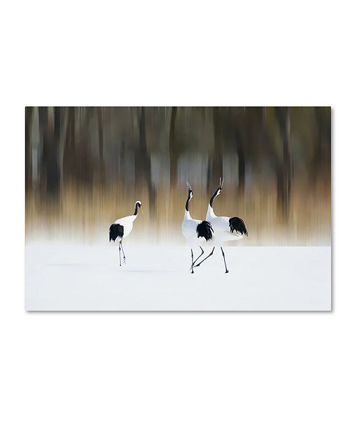 """Trademark Global Ikuo Iga 'Sing A Song Of Love' Canvas Art - 24"""" x 16"""" x 2"""""""