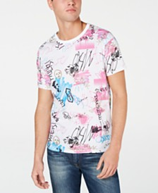 GUESS Men's Graffiti Print T-Shirt