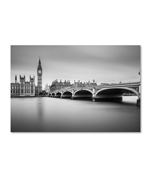 "Trademark Global Milan Jurek 'London' Canvas Art - 19"" x 12"" x 2"""