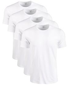 Calvin Klein Men's Cotton Stretch Crewneck Undershirts 4-Pack
