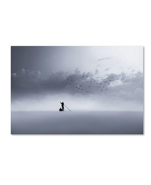 "Trademark Global Mohammed Sattar 'The Way Back' Canvas Art - 19"" x 12"" x 2"""