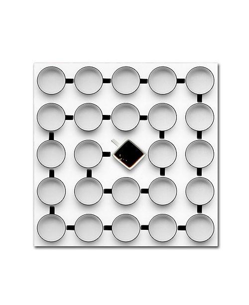 """Trademark Global Wieteke de Kogel 'Helix 2' Canvas Art - 14"""" x 14"""" x 2"""""""