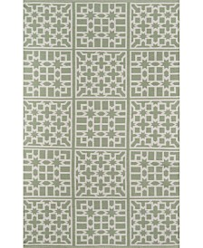 "Palm Beach Lake Trail Green 5' x 7'6"" Indoor/Outdoor Area Rug"