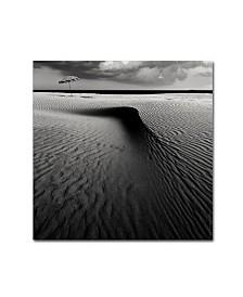 "Wim Schuurmans 'Umbrella On The Beach' Canvas Art - 18"" x 18"" x 2"""