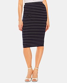 Striped Pull-On Skirt