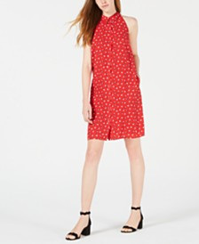 Maison Jules Printed Tie-Neck Shirtdress, Created for Macy's