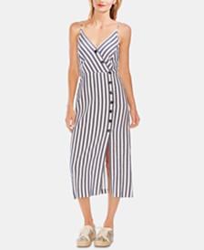 Vince Camuto Boardwalk Striped Slit Sleeveless Dress
