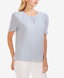 Vince Camuto Puffy-Shoulder Blouse