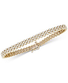 Diamond Three-Row Bracelet (4 ct. t.w.) in 14k Gold