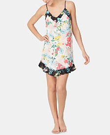 Betsey Johnson Floral-Print Chemise Nightgown