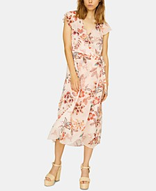 Jolynn Wrap Floral-Print Dress
