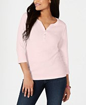 7161ec30 Karen Scott Cotton Henley Top, Created for Macy's