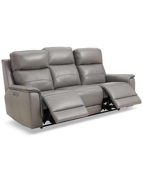 Leather Dual Motion Sofa