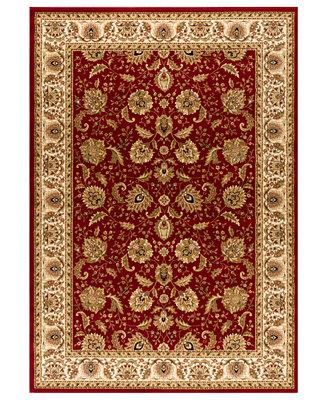 Kenneth Mink Closeout Rugs Warwick Kashan Crimson Wheat