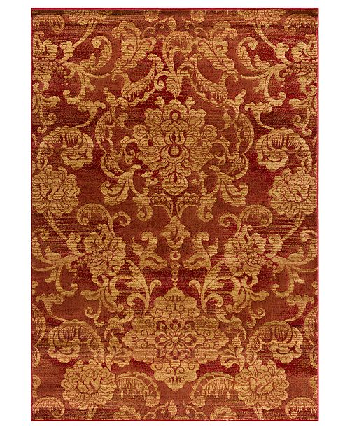 "Kenneth Mink CLOSEOUT! Area Rug, Northport LON-101 Red 2'3"" x 7'7"" Runner Rug"