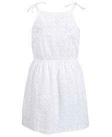 Big Girls Eyelet Tie Dress, Created for Macy's