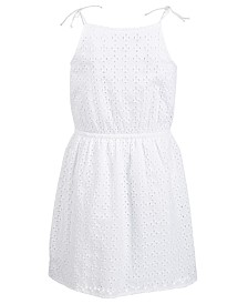 Epic Threads Big Girls Eyelet Tie Dress, Created for Macy's