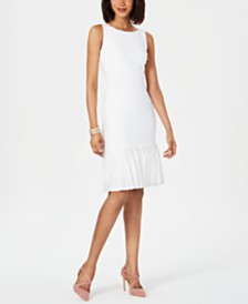 Adrianna Papell Drop-Waist Pleated Dress
