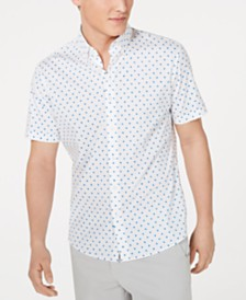 Michael Kors Men's Ike Slim-Fit Stretch Dot-Print Shirt