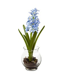 Hyacinth and Birds Nest w/Vase