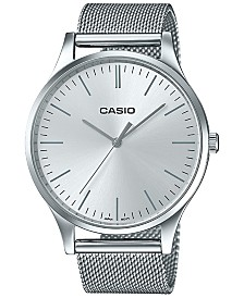 Casio Women's Stainless Steel Mesh Bracelet Watch 38mm