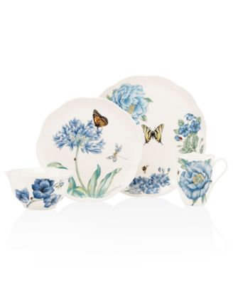 Dinnerware, Butterfly Meadow Blue 4 Piece Place Setting