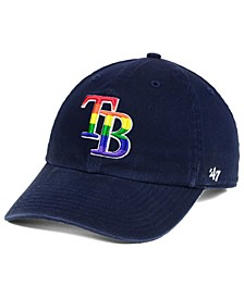 Tampa Bay Rays Pride CLEAN UP Strapback Cap