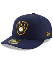low priced d4c8d bf2b3 New Era Milwaukee Brewers Low Profile AC Performance 59FIFTY Fitted Cap
